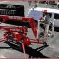 Our 60ft Mini-lift can access most trees – it can drive through a standard 3ft door-sized space! Its gray rubber tracks won't harm grass or pool decks. Working from a...